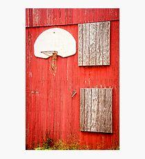 """""""Farm League"""" - basketball hoop on farm Photographic Print"""