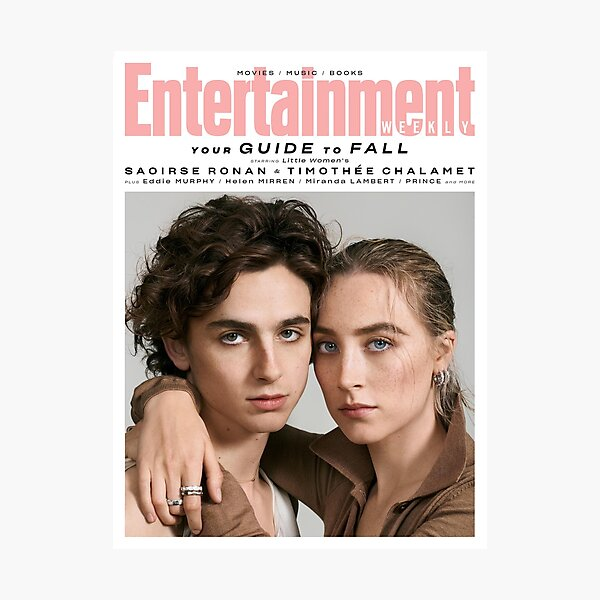 Timothee Chalamet x Saoirse Ronan Magazine Photographic Print
