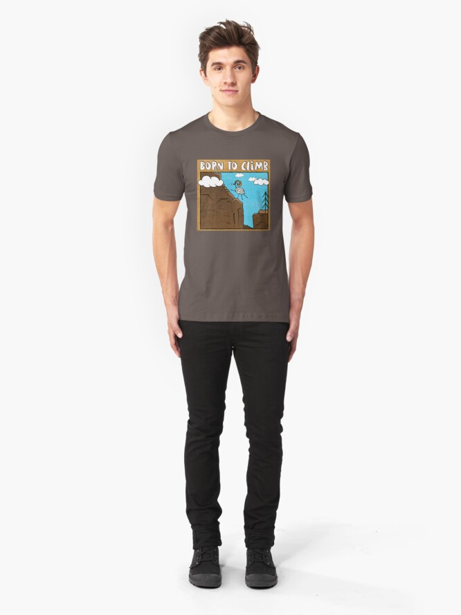 Alternate view of Born To Climb! Slim Fit T-Shirt