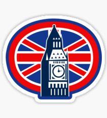 London Big Ben Clock Tower British Flag  Sticker