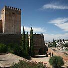 Alcazaba, Alhambra, Spain by Peter  Thomas