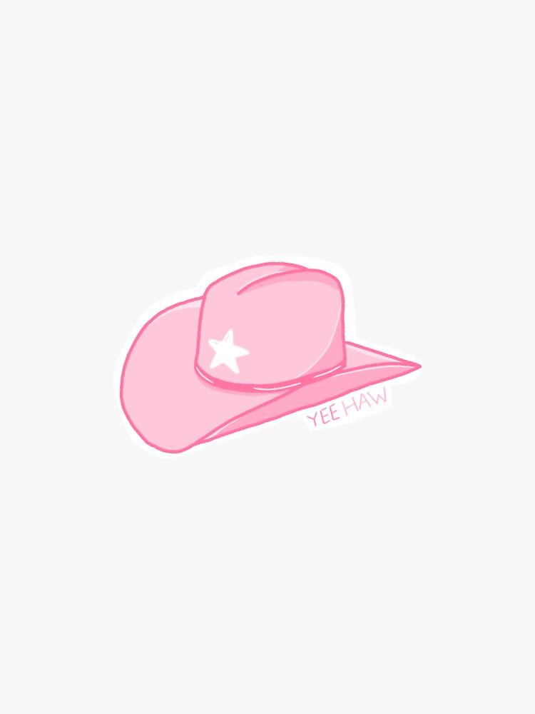 sombrero vaquero rosa de pea-bee