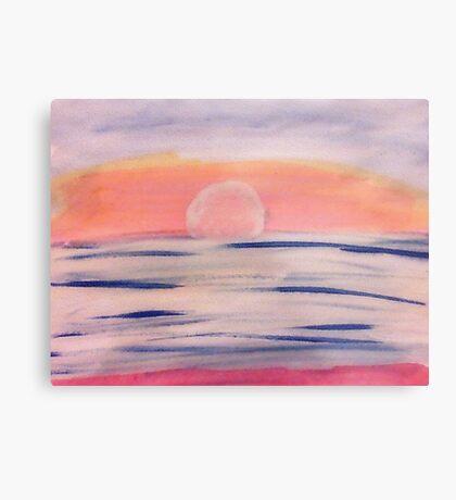 Calm sunset, watercolor Metal Print