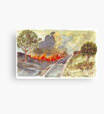 Veldfire in Magaliesburg Canvas Print