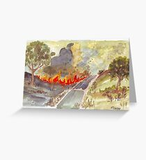 Veldfire in Magaliesburg Greeting Card