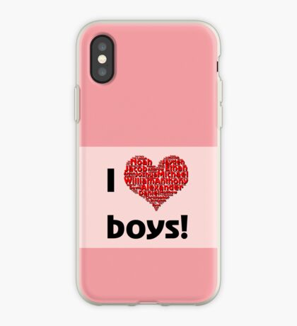 I love boys (T-Shirt & iPhone case) iPhone Case