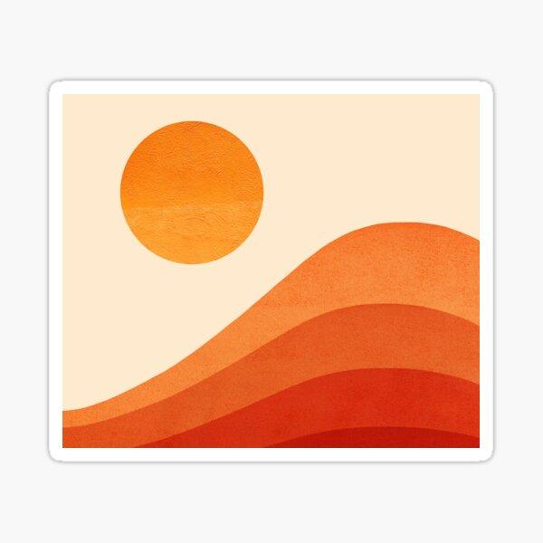 SUNSET_RED_LANDSCAPE_VISUAL_ART Sticker