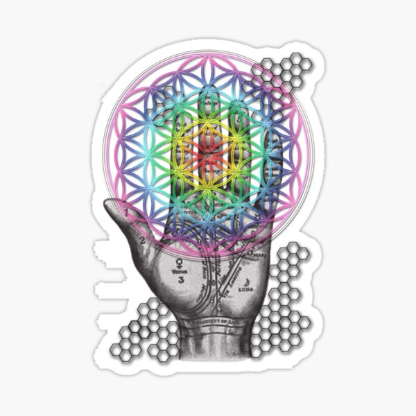 Hand of Life Sticker