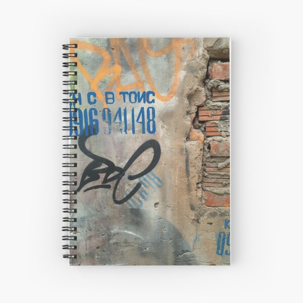 Graffiti, Hanoi Vietnam Spiral Notebook