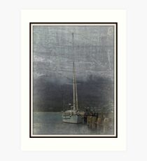 Tied to the dock ... Art Print