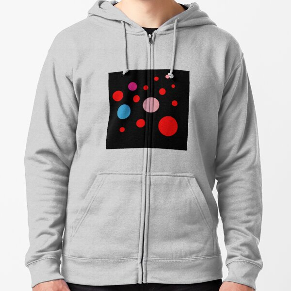 Polka Dots in the Dark Zipped Hoodie