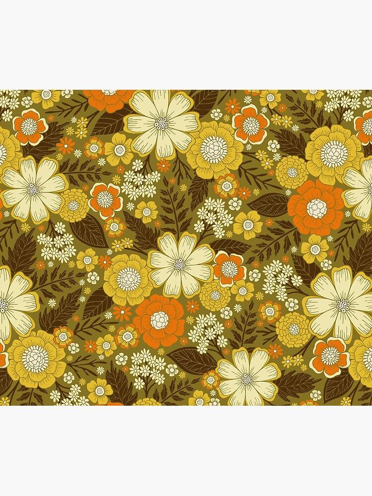 1970s Retro/Vintage Floral Pattern by somecallmebeth