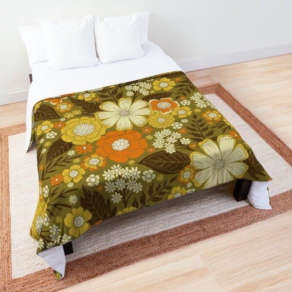 1970s Retro/Vintage Floral Pattern Comforter