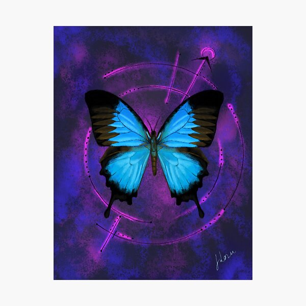 Space Butterfly 2 Photographic Print
