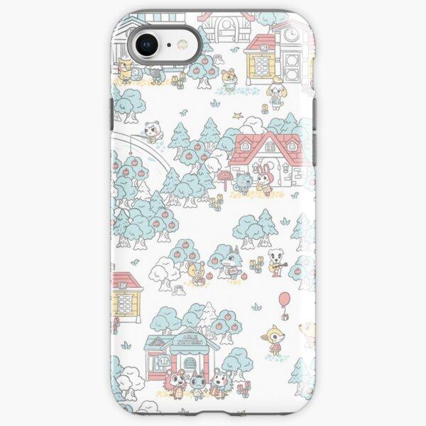 Animal Crossing Pattern iPhone Tough Case