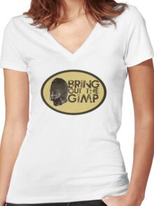 Bring out the Gimp Women's Fitted V-Neck T-Shirt