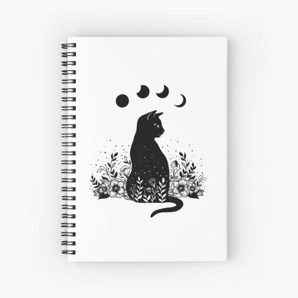 Night Garden Cat Spiral Notebook