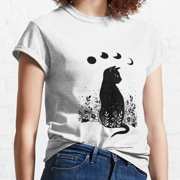 Night Garden Cat Classic T-Shirt