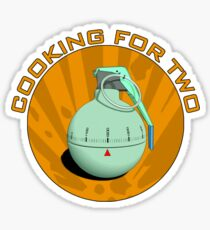 Cooking for two Sticker