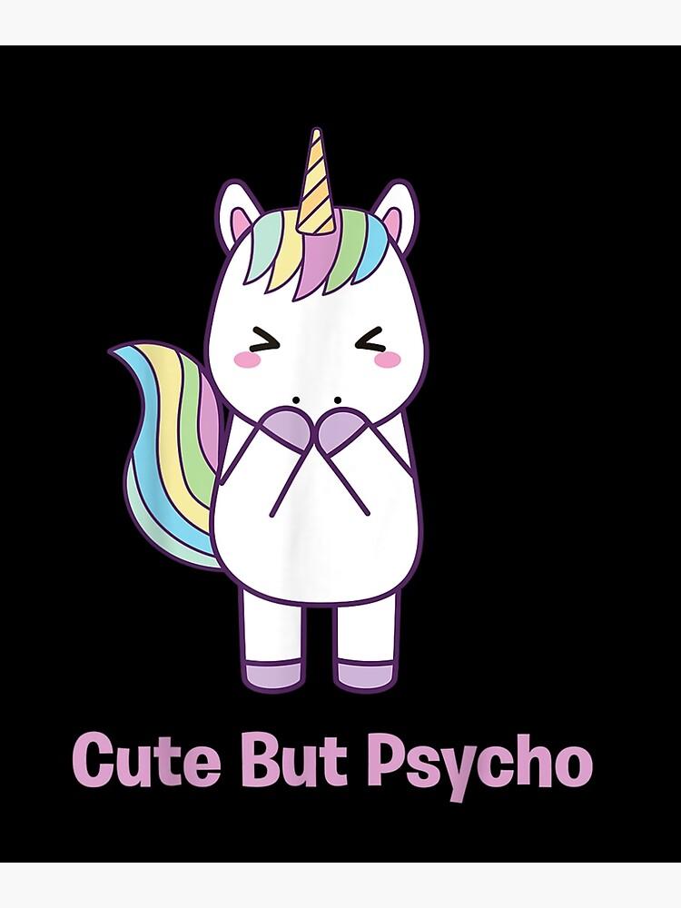 Abtupfen Einhorn T-Shirt DAB Cute But Psycho Rainbow Festival Kawaii Geburtstag