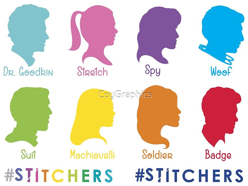 Stitchers Sticker Set #1 by CoyGraphics
