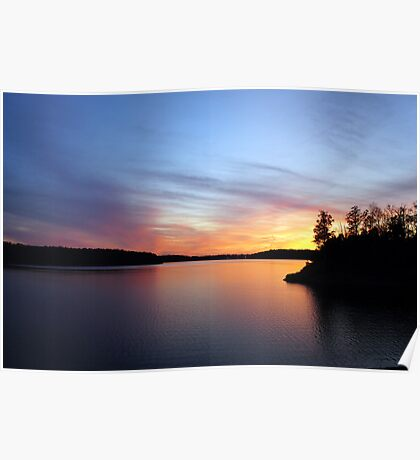 The Lake at Nightfall Poster