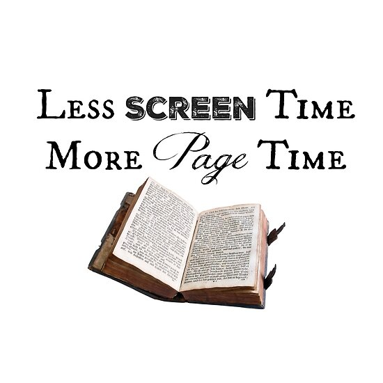 Less Screen Time, More Page Time by Rachel Tenney