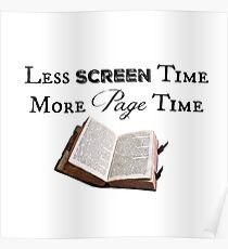 Less Screen Time, More Page Time Poster