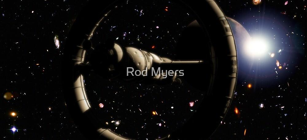 In Orbit Near Planet AE562 by Rod Myers