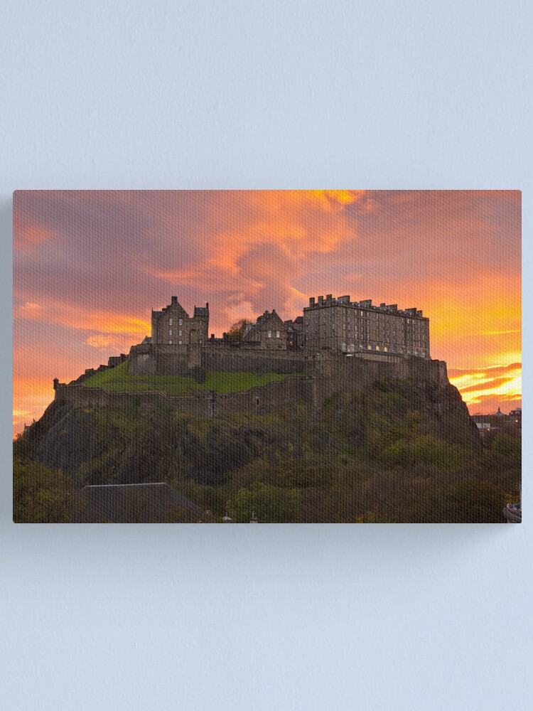 Edinburgh Castle sunset Canvas Wall Art Picture Print