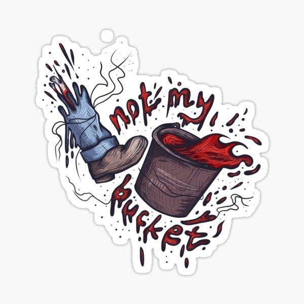 bucket. Sticker