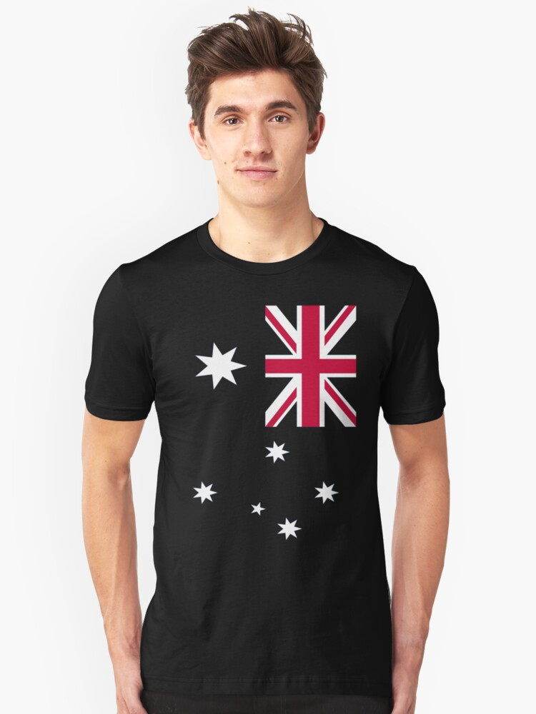 Big Aussie Flag Unisex T-Shirt Front