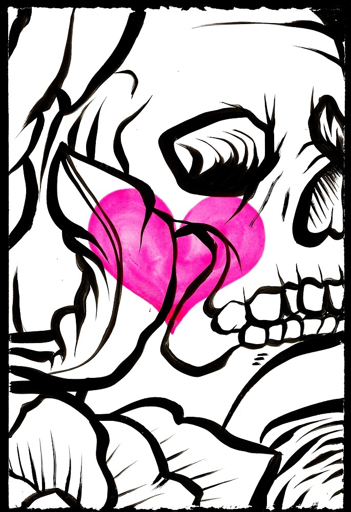 Skull Heart by George Rose