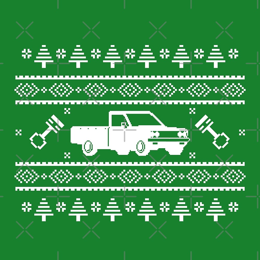 Datsun 620 Ugly Sweater by The World Of Pootermobile
