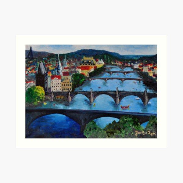 The View over Prague's Five Bridges Art Print