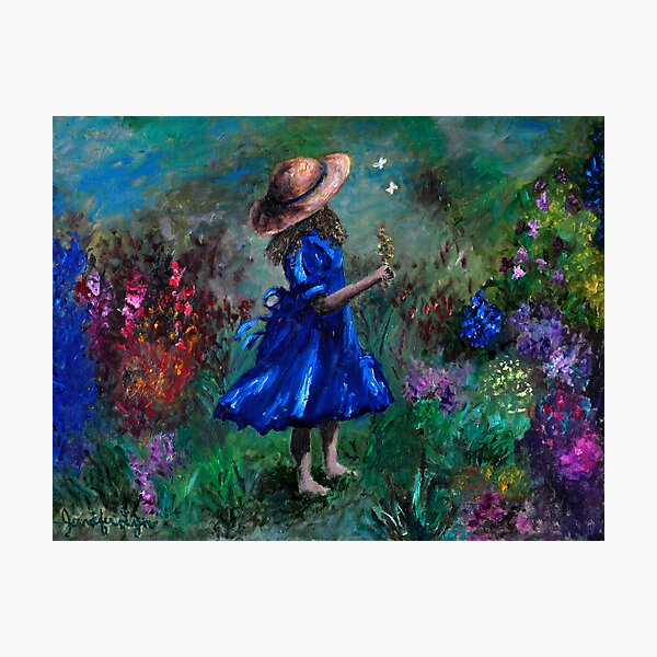 Girl in the Garden Photographic Print