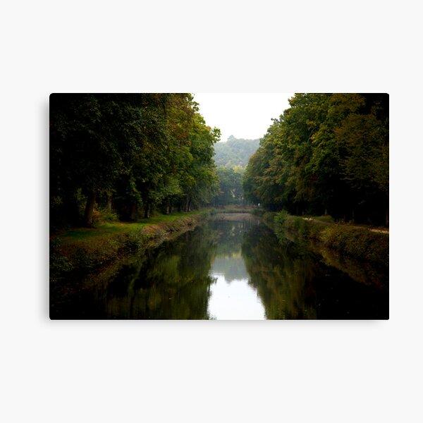 Canal Canopy Canvas Print