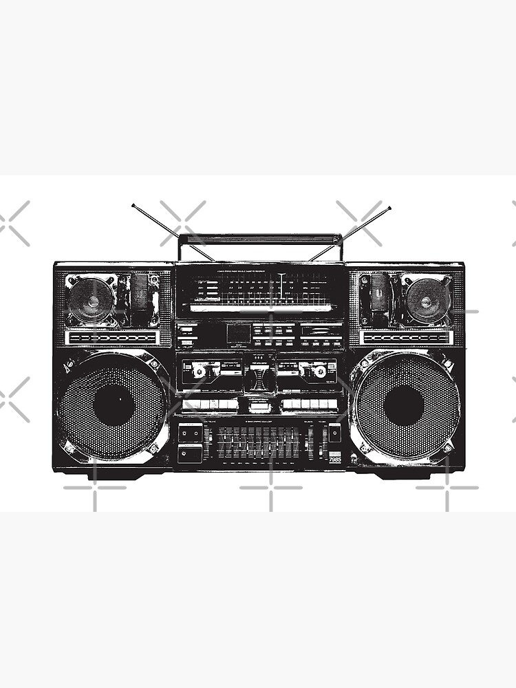 Boombox Ghetto Blaster by monsterplanet