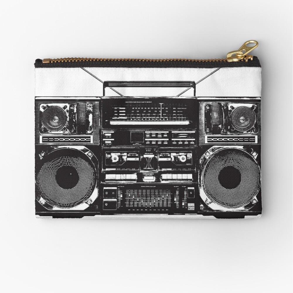 Boombox Ghetto Blaster Zipper Pouch