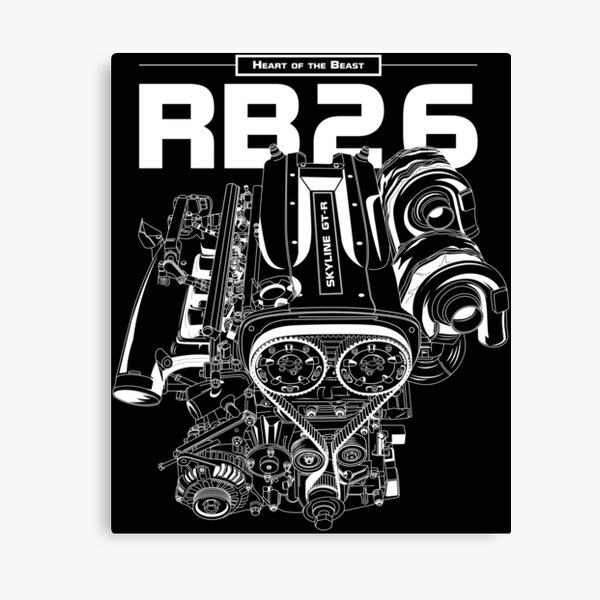 RB26DETT Engine - Skyline GTR Canvas Print