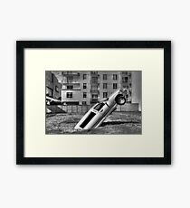 Flying Limo Framed Print