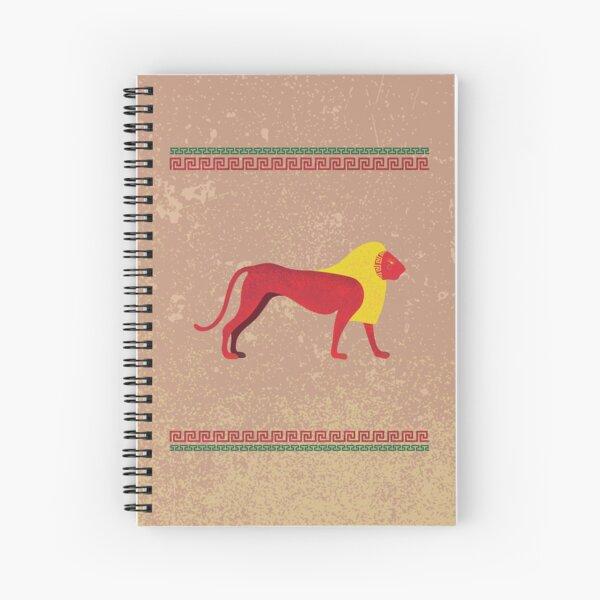 Ancient Egyptian lion Spiral Notebook