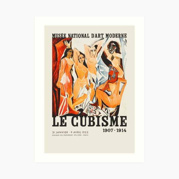Cubism - Exhibition poster for National Museum of Modern Art, 1953 Art Print
