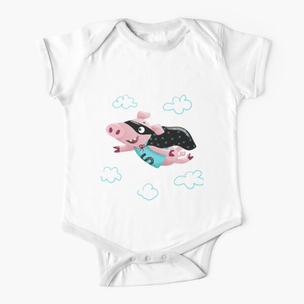 Super pig Short Sleeve Baby One-Piece