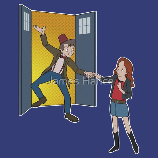 TShirtGifter presents: 'Straight On 'Til Morning' (Peter Pan / Doctor Who)