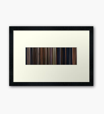 Moviebarcode: Harry Potter and the Philosopher's Stone (2001) Framed Print