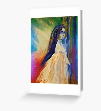 She walks through her dreams Greeting Card