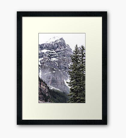 Mount Perren - One of The Ten Peaks - Moraine Lake  Alberta Framed Print