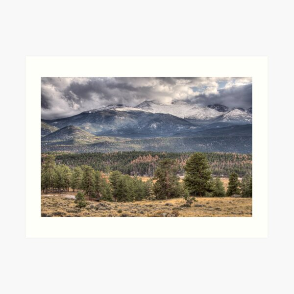 Rocky Mountain Cloudscape Art Print