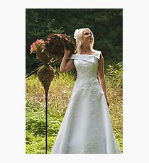 Bride outdoor Photographic Print